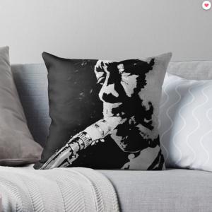 Charlie Parker Saxophone Jazz – Throw Pillow