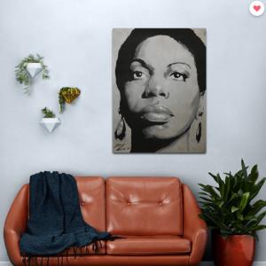Nina Simone – Lady Jazz – Music and Charisma Metal Print