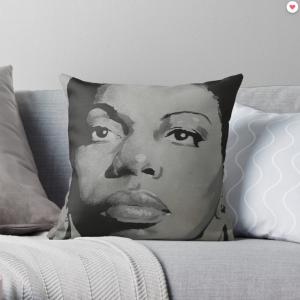 Nina Simone – Lady Jazz – Music and Charisma Throw Pillow