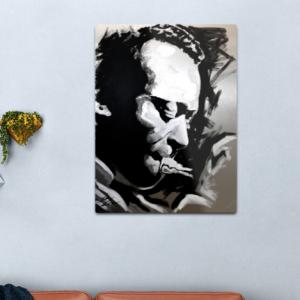 Miles Davis-Trumpet and All That Jazz Music Legend Metal Print