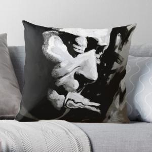 Miles Davis-Trumpet and All That Jazz Music Legend Throw Pillow